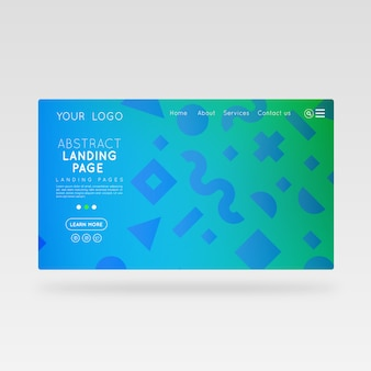 Web template corporative sea water abstract design