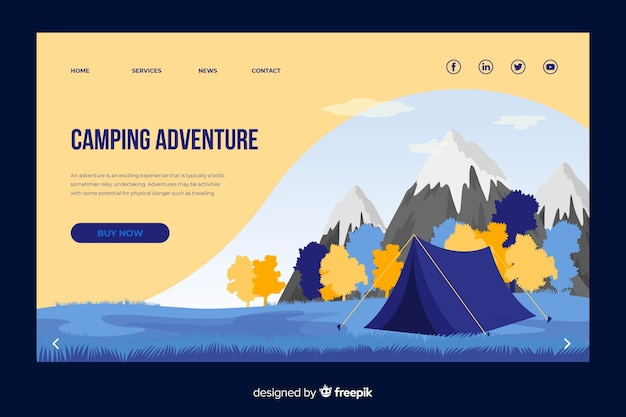 Web template design for traveling