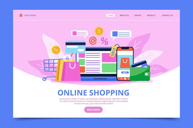 Web template shopping online