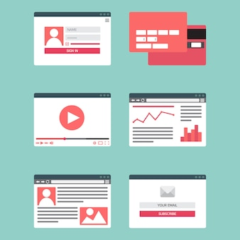 Web template for site forms of email