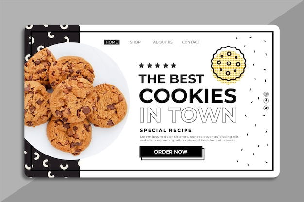 Web template with cookies photo