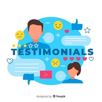 Web testimonial design