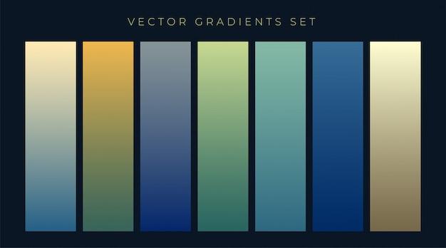 Web theme gradients set design