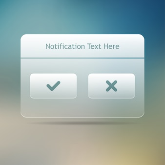 Web and ui notification message window. .