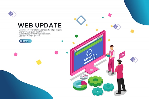 Web update vector illustration concept