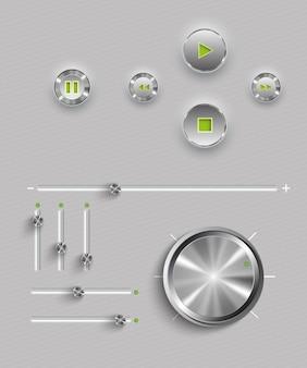 Web user interface design elements.