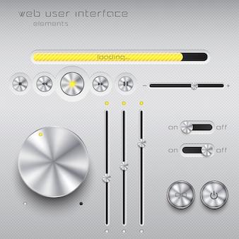 Web user interface  elements.