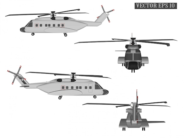 Web vector helicopter for soldiers