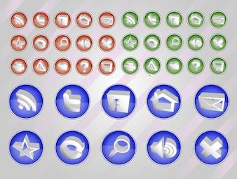 Web Vectors Button Pack