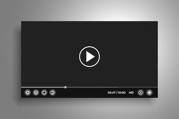 Web video media player interface template