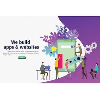 Webサイト用のアプリとwebサイトを構築する