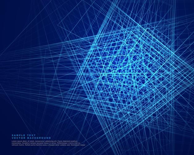 抽象的な青い線のweb技術の背景