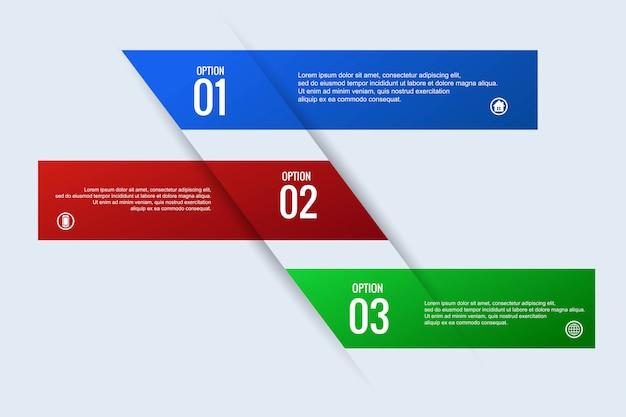 創造的なビジネスインフォグラフィックコンセプトwebバナーデザイン
