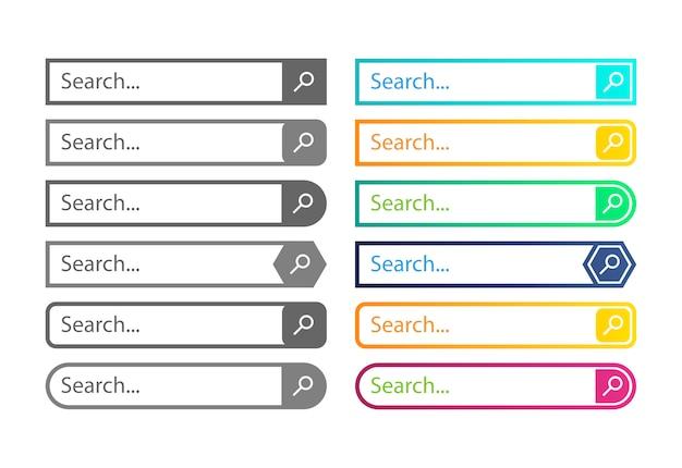 検索バーのwebデザイン