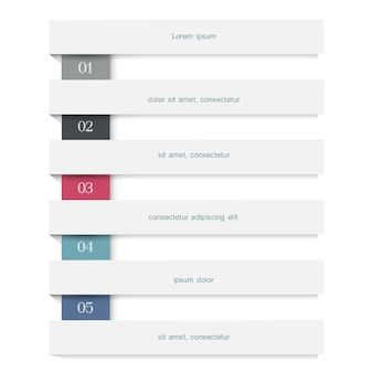 白い旗と創造的なインフォグラフィックwebデザインテンプレート