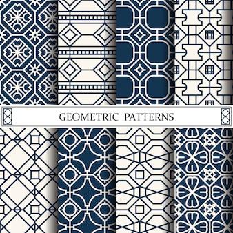 Webページの背景の八角形の幾何学的ベクトルパターン