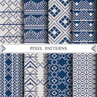 布繊維またはwebページの背景を作るためのタイのピクセルパターン。