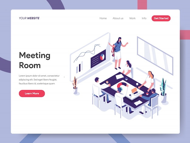 Webサイトページの会議室のバナー