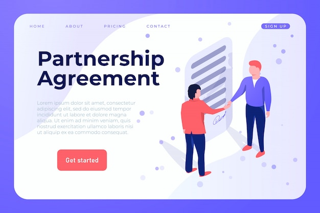 パートナーシップ契約webテンプレート