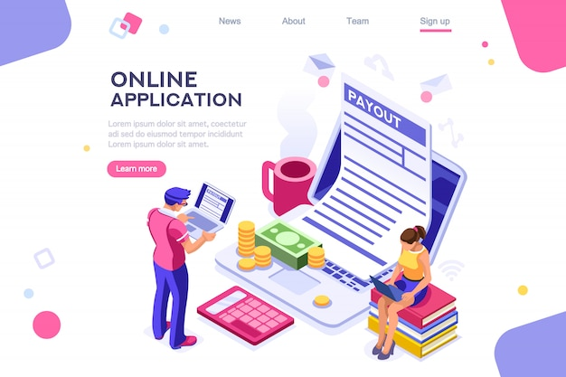 Webページフォームのランディングページ