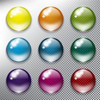 抽象的なベクトルのwebボタンセット