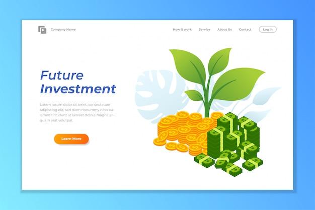 投資webバナーの背景テンプレート