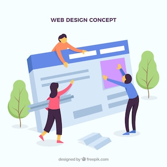 フラットデザインのwebデザインコンセプト