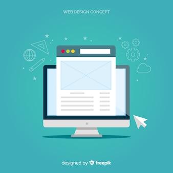 フラットスタイルの最新のwebデザインコンセプト