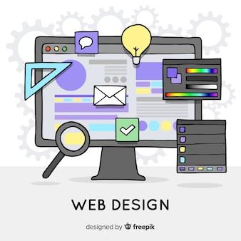 素敵な手描きのwebデザインコンセプト