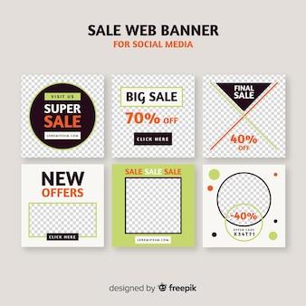 ソーシャルメディアの販売webバナー