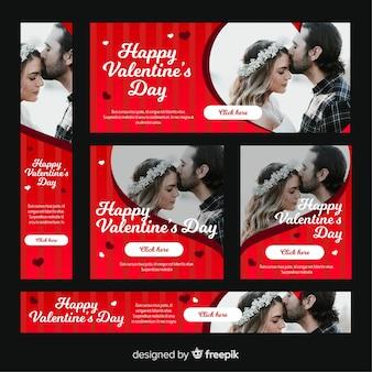 バレンタインデーのwebバナー