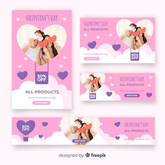 バレンタインデーのwebバナー広告