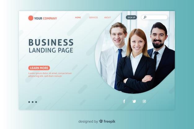 企業または代理店用のコーポレートランディングページwebテンプレート