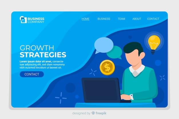 ビジネスランディングページwebサイト