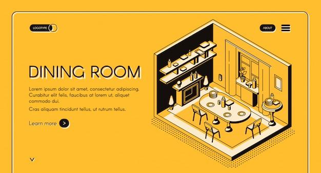 住宅工学および建設会社等尺性ベクトルwebバナー、ランディングページ。