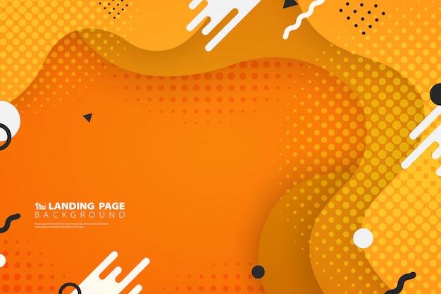 抽象的なカラフルなランディングページweb図形装飾背景。