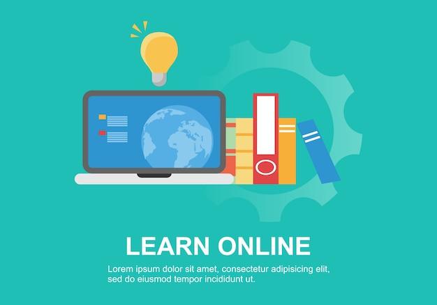 オンライントレーニング用のwebページデザインテンプレート
