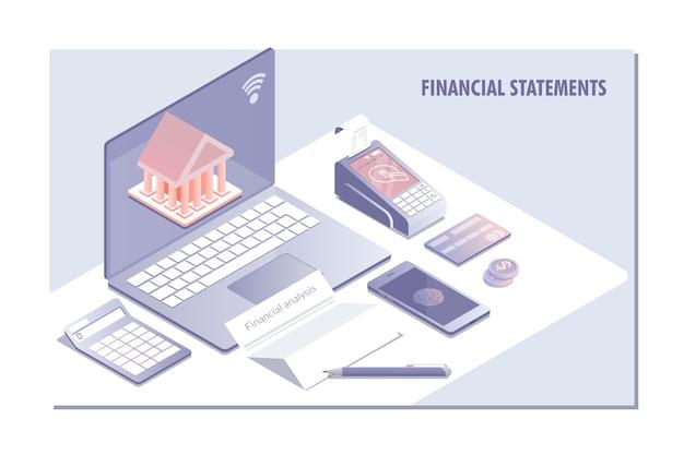 財務諸表用のwebページデザインテンプレート