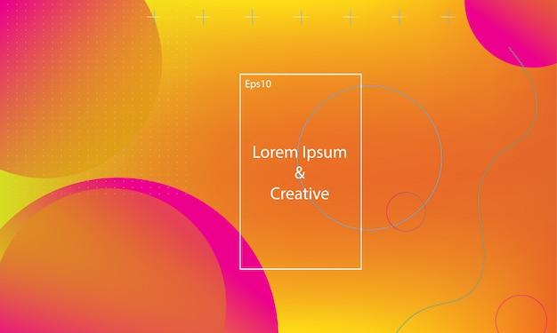 幾何学的な虹彩のランディングページのwebテンプレート。