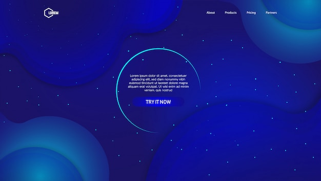 ランディングページwebの液体の色の背景
