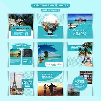 ソーシャルメディアのための旅行webバナー