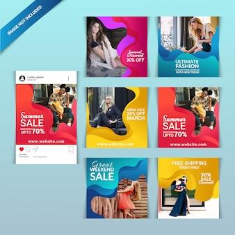 ソーシャルメディア用のファッションwebバナー