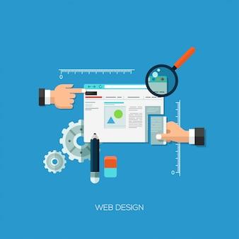 Webデザインのためのフラットなデザインベクトル図の概念