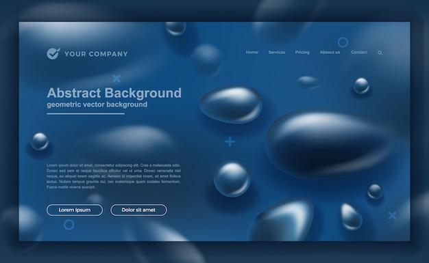 古典的な青のランディングページまたはwebテンプレートデザイン