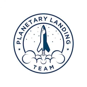 航空会社やwebのアイコンのためのロケットのロゴ