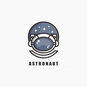 宇宙飛行士のロゴのテンプレートデザイン。図。抽象的な宇宙飛行士のwebアイコンとロゴ。