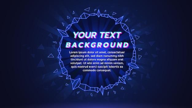 青いテーマの電子音楽web画面の背景