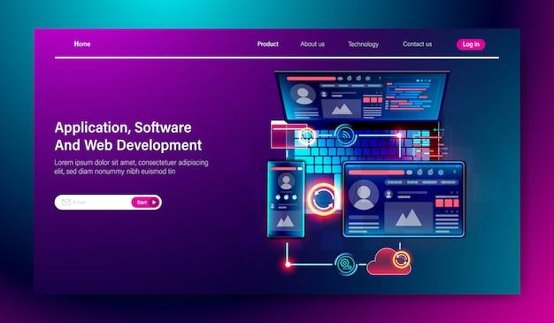 ソフトウェアとwebユーザーインターフェース開発クロスプラットフォーム