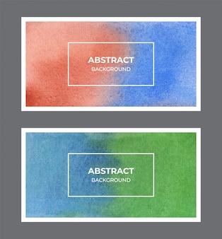 抽象的な水彩webバナーテクスチャ背景コレクション