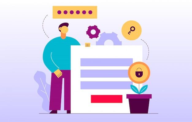 ベクトルデータ暗号化webページのオンラインバナー